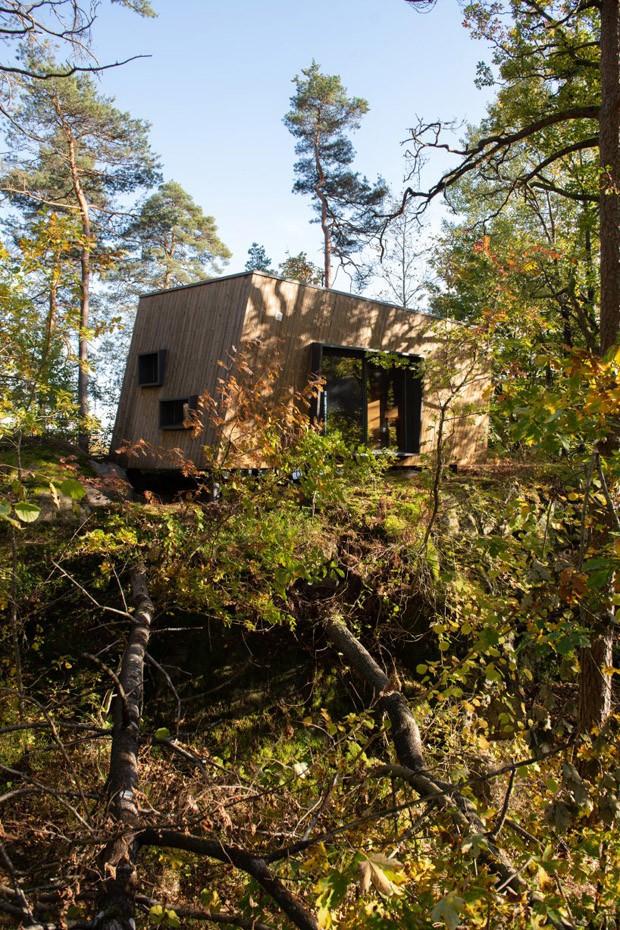 Abrigos rodeados pela natureza são usados para tratamentos hospitalares (Foto: Divulgação)