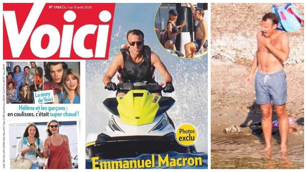 MP francês investiga paparazzo por foto de Macron em traje de banho