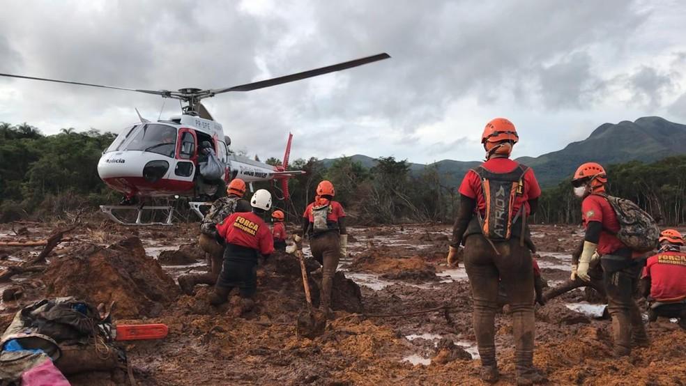 Resgate em Brumadinho — Foto: Raimundo Carlos Dias de Matos/Divulgação