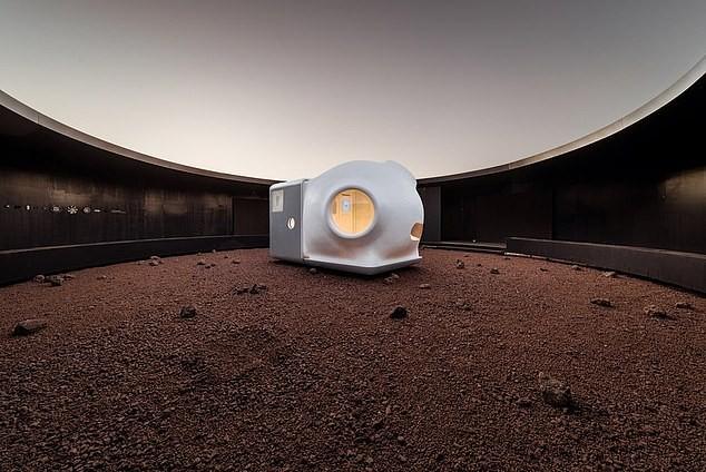 China constrói casa para astronautas que vão para Marte (Foto: Reprodução WU Qingshan)