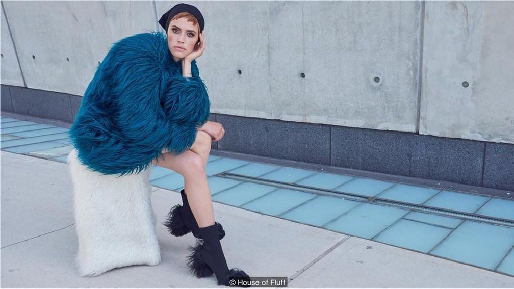 Marca americana produz peles artificiais de alto padrão — Foto: House of Fluff