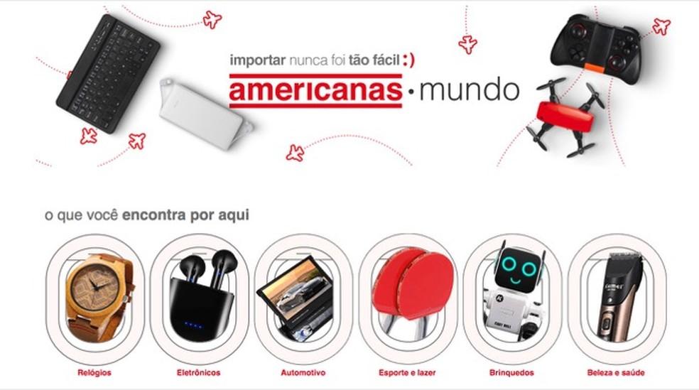 Tutorial mostra como comprar produtos importados pagando em real e sem valor para frete usando o site Americanas Mundo — Foto: Reprodução/Marvin Costa