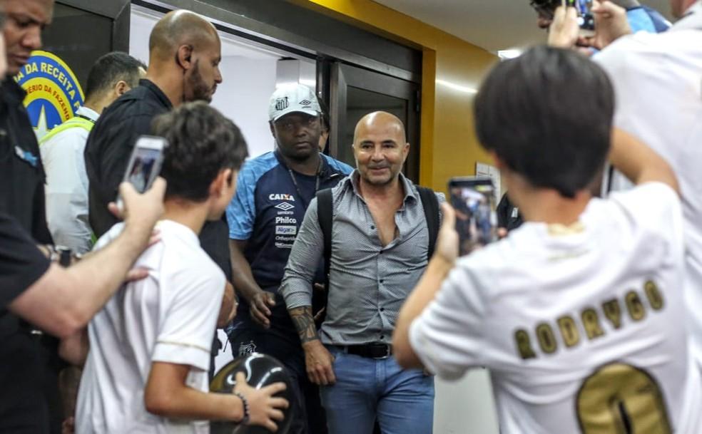 Sampaoli deve comandar o Santos em 2019 ? Foto: Rodrigo Coca/Santos FC