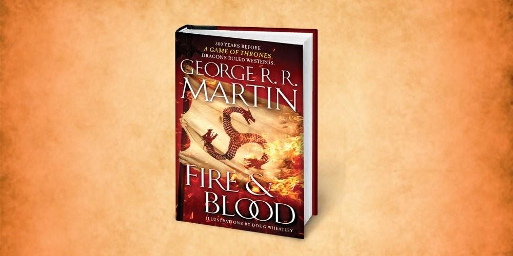 Capa da versão estrangeira de Fogo e Sangue, de George R. R. Martin (Foto: Divulgação)