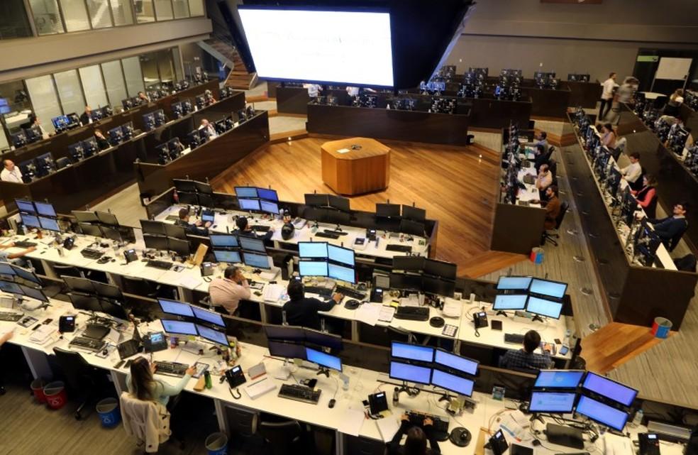 Sala de operações na B3, bolsa de valores de São Paulo — Foto: Paulo Whitaker/Reuters