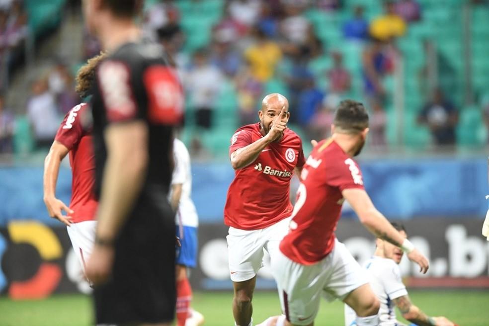 Patrick marca contra o Bahia  — Foto: Ricardo Duarte / Inter, DVG