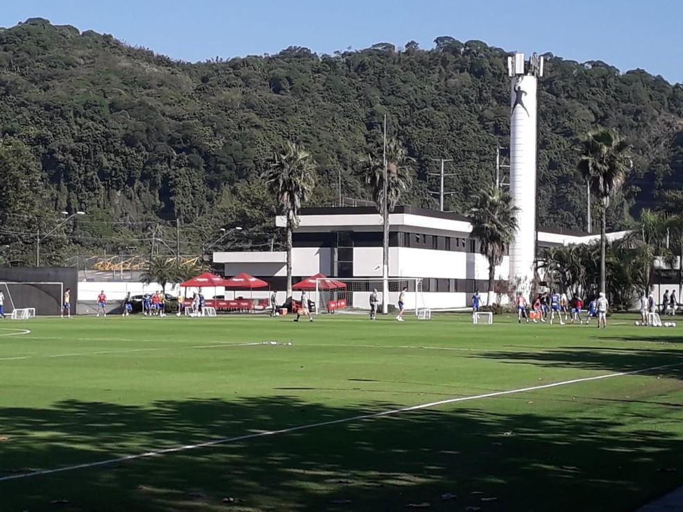 Santos treina no CT Rei Pelé — Foto: Caíque Stiva