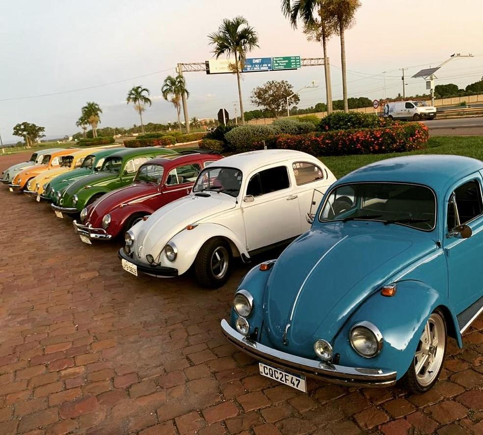 Fuscas de todas as cores circulam em Cuiabá — Foto: Divulgação