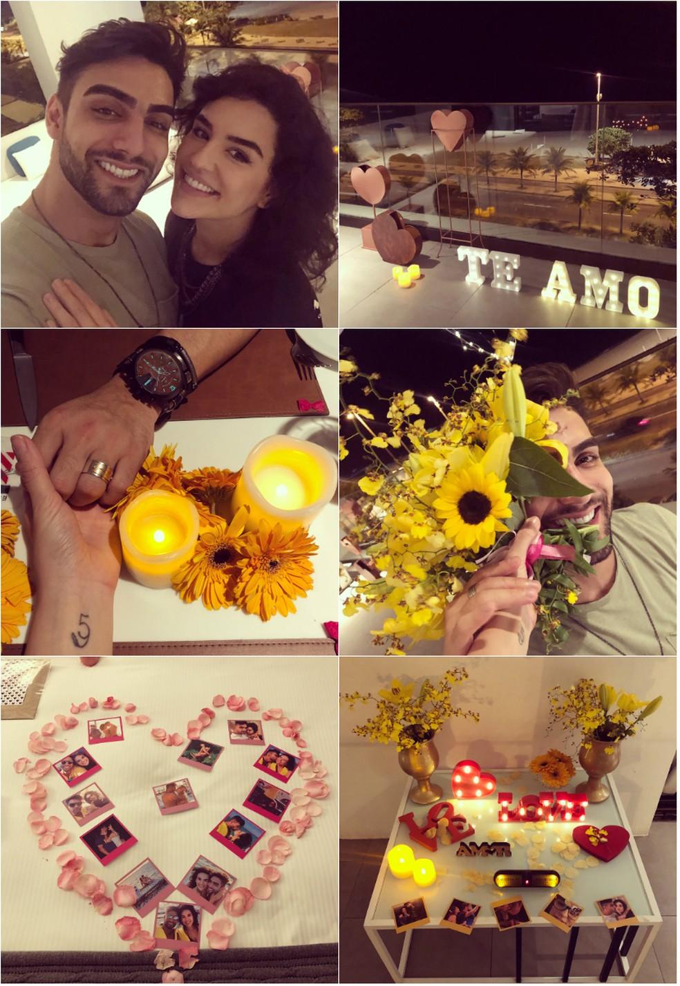 Kéfera e o DJ Eme fazem declarações de amor nas redes sociais e trocaram anel de compromisso — Foto: Arquivo pessoal