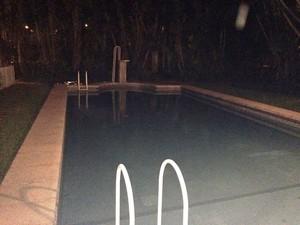 Piscina tinha profundidade de 2,45 metros no fundo (Foto: Divulgação/Polícia Civil)