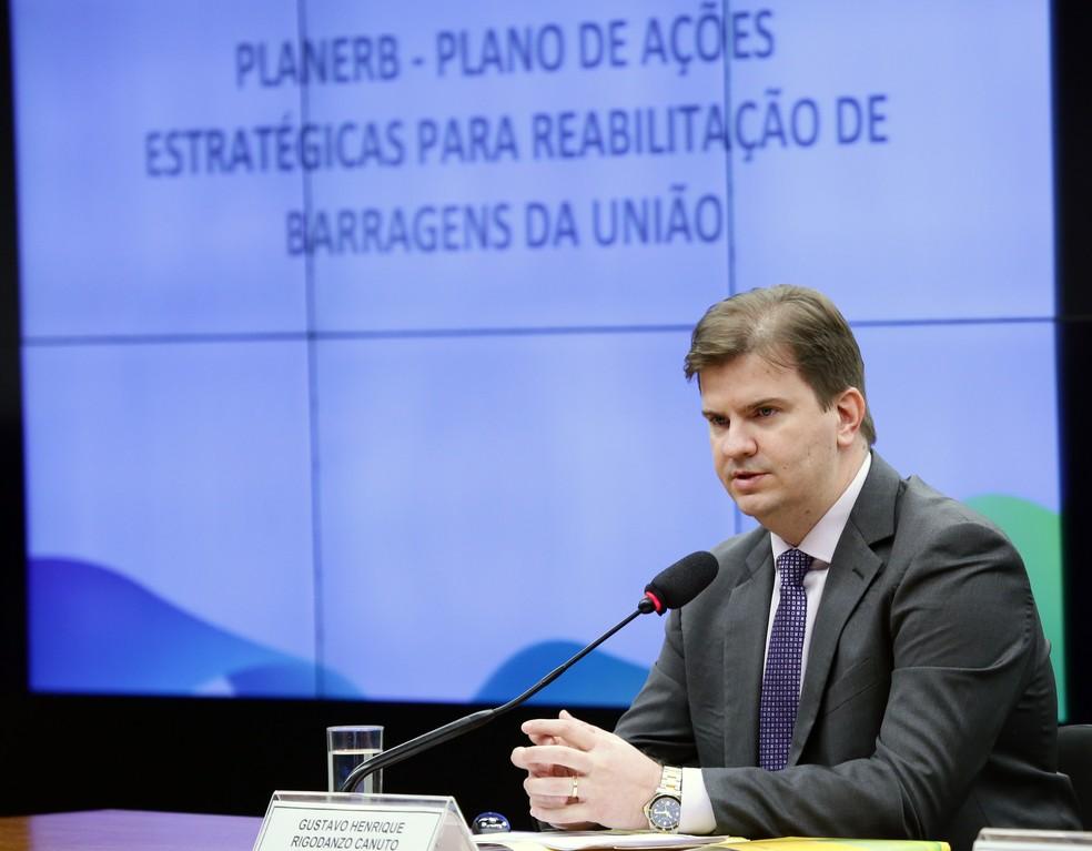 O ministro Gustavo Canuto saiu do Desenvolvimento Regional e foi para a presidência do Dataprev em fevereiro — Foto: Michel Jesus/Câmara dos Deputados