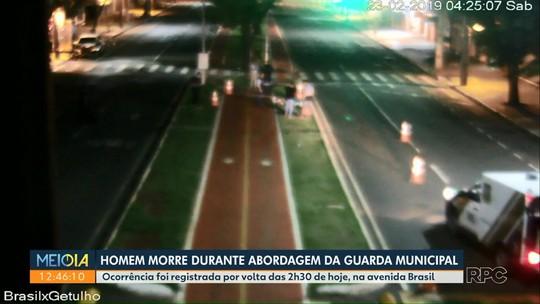 Homem corre atrás de carros em avenida de Maringá, morde guarda municipal e morre