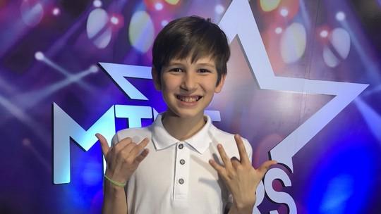 Caio Facchini é o segundo finalista do 'Mini Stars'