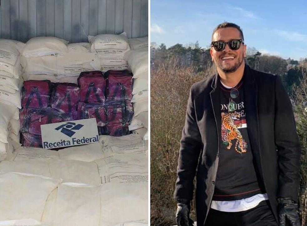 Empresário é preso pela Polícia Federal suspeito de enviar 760 Kg de cocaína para a Europa — Foto: G1 Santos
