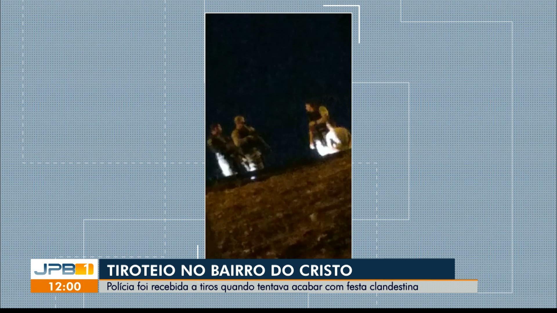 Polícia Militar é recebida a tiros durante fiscalização de aglomeração, em João Pessoa