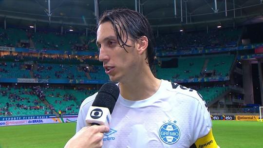 Geromel enaltece entrega do time na vitória contra o Bahia