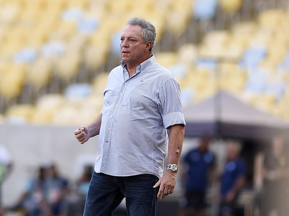 Abel Braga durante a goleada por 4 a 0 do Flamengo sobre a Cabofriense — Foto: André Durão / GloboEsporte.com