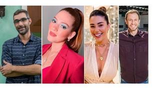 Rodrigo Dourado, diretor geral, Ana Clara, Vivian Amorim e Tiago Leifert, apresentadores de 'Rede BBB' e do 'BBB' 21 | Reprodução