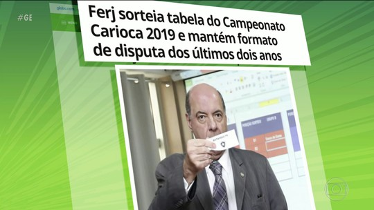 Ferj sorteia tabela do Campeonato Carioca 2019 e revela que usará o VAR