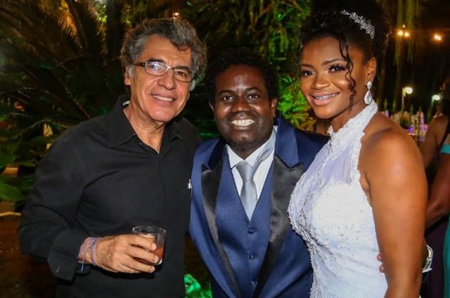 Paulo Betti no casamento de Leandro Firmino (Foto: Claudio Sobreira)