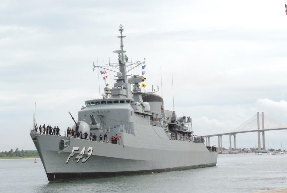 Fragata Liberal chega à Natal no dia 16 — Foto: Divulgação