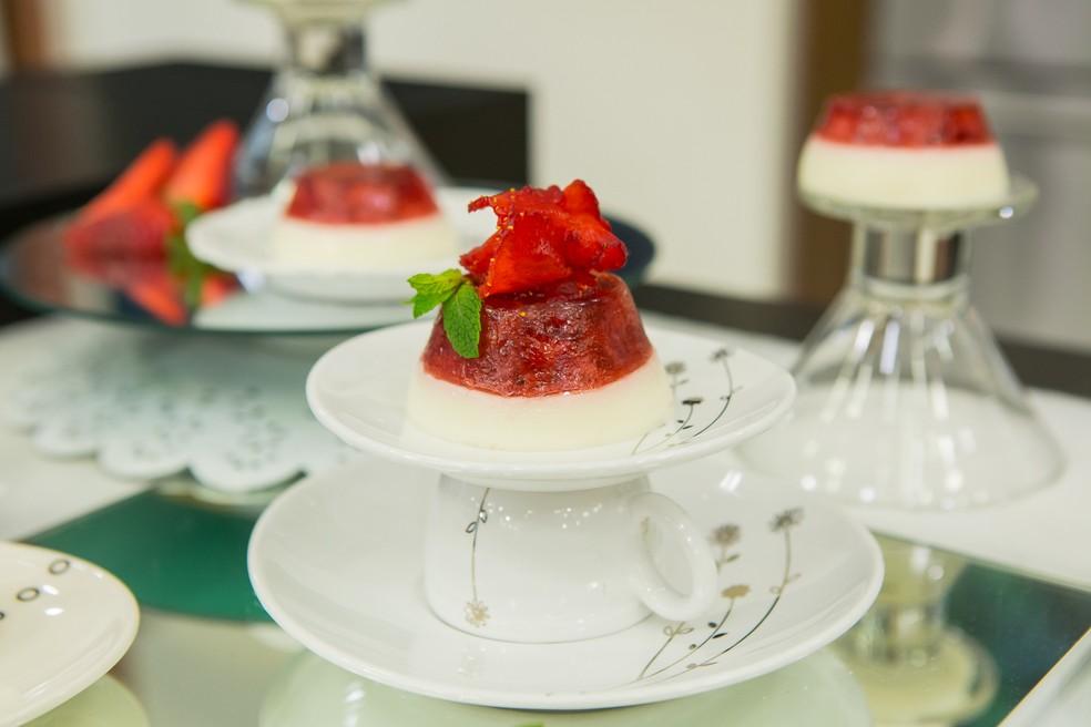 Gelatina Vermelha com Musse de Iogurte (Foto: Artur Meninea/Gshow)