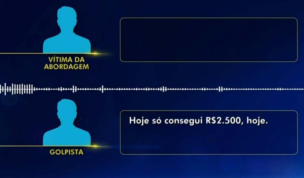 Golpista debocha de vítimas: 'Só consegui R$ 2.500' — Foto: Reprodução/TV TEM