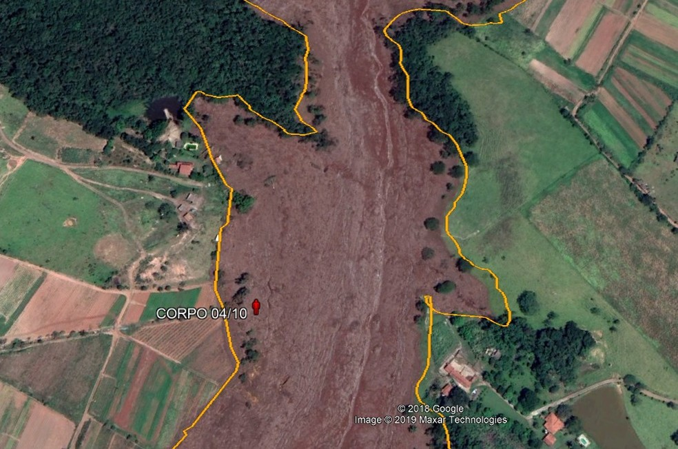 Local onde o corpo foi encontrado — Foto: Corpo de Bombeiros/Divulgação