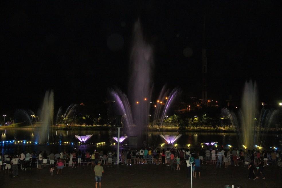 Parque das Águas, em Cuiabá, é frequentado para prática de lazer e esportes — Foto:  Luiz Alves/Secom-Cuiabá