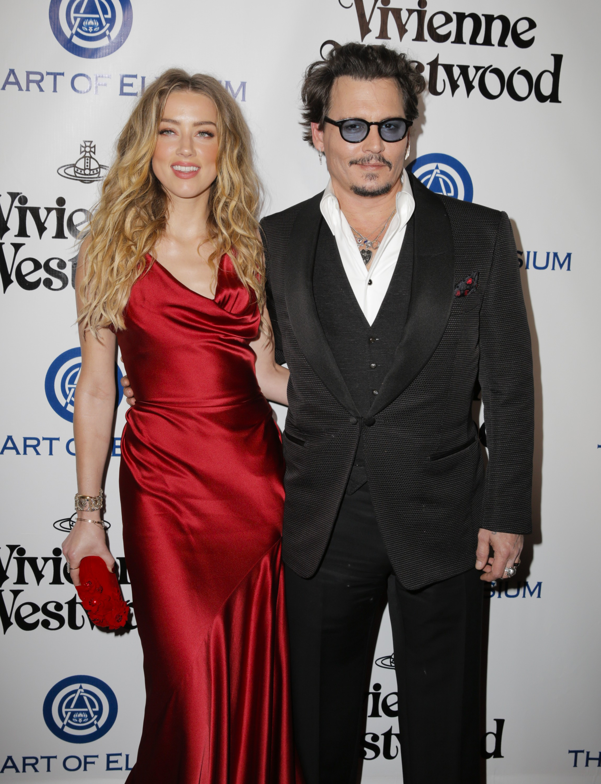 CULVER CITY, CA - JANUARY 09:  Actors Amber Heard (L) and Johnny Depp attend The Art of Elysium 2016 HEAVEN Gala presented by Vivienne Westwood & Andreas Kronthaler at 3LABS on January 9, 2016 in Culver City, California.  (Photo by Alison Buck/Getty Image (Foto: Getty Images)