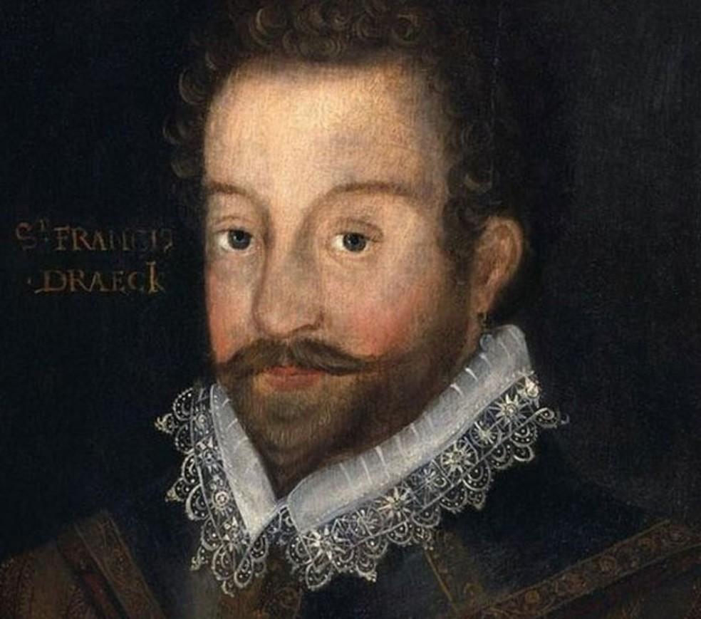Francis Drake era corsário inglês que no final do século 16 que conseguiu atravessar o estreito de Magalhães — Foto: Getty Images/BBC