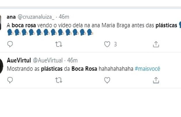 Internautas comentam sobre plásticas da ex-BBB (Foto: Reprodução/Instagram)