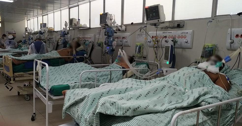 Em hospitais de Mato Grosso do Sul, pacientes que vão à UTI estão sendo escolhidos  — Foto: Ascom HRMS/Reprodução