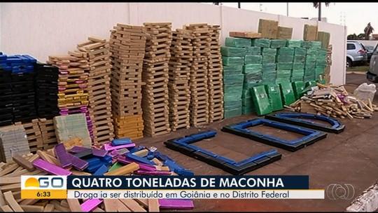 Polícia apreende 4 toneladas de maconha em Mineiros; grupo usou café e mandioca para tentar disfarçar carga