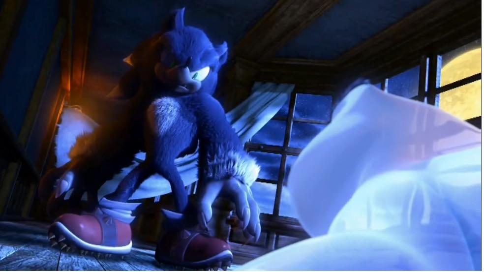 """Sonic """"lobisomem"""" assustou muitos fãs da série  — Foto: Reprodução/Marcos Silva"""