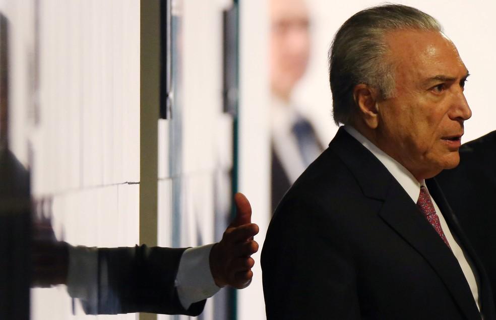 O presidente Michel Temer, durante cerimônia no Palácio do Planalto, nesta semana (Foto: Adriano Machado/Reuters)
