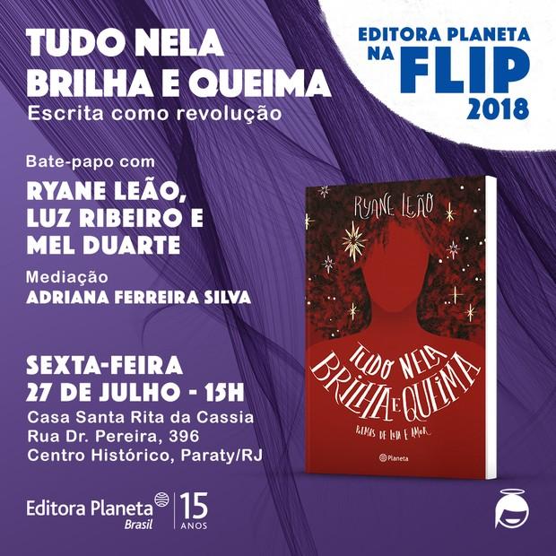 Ryane Leão: o livro da poeta cuiabana é tema de encontro que reúne Adriana Ferreira Silva, Mel Duarte e Luz Ribeiro (Foto: Divulgação)