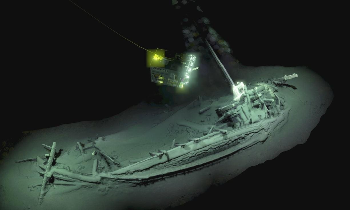 Navio com mais de 2 mil anos encontrado por arqueólogos  (Foto: Divulgação)