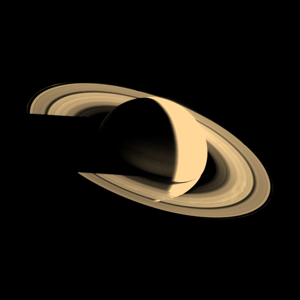 Foto de Saturno feita pela Voyager 1 (Foto: Nasa)