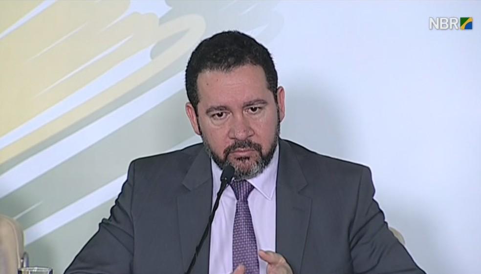 Ministro Dyogo Oliveira (Foto: Reprodução/NBR)