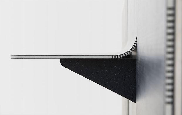 Designer cria prateleira flexível feita de tecido reciclado (Foto: Divulgação)