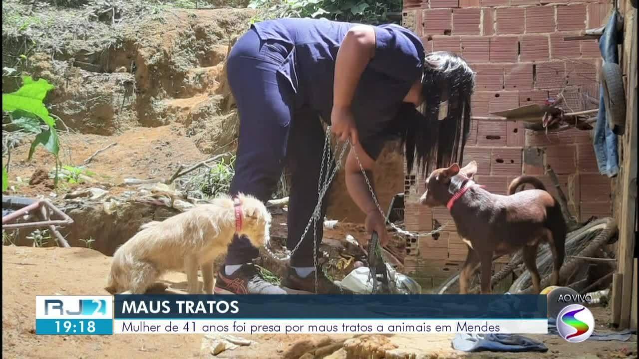 Mulher é detida em flagrante por maus-tratos a animais em Mendes