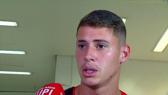Matheus Savio, autor de gol do Fla, mira manter a liderança