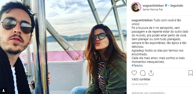 Antonia Morais e Wagner Santisteban (Foto: Reprodução/Instagram)