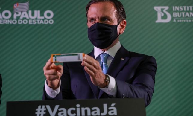 O governador de SP, João Doria