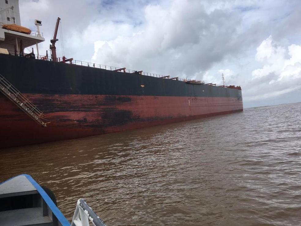 Navio está em quarentena desde sexta-feira (4) — Foto: SVS/Divulgação