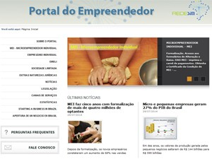 Portal do empreendedor (Foto: Reprodução)