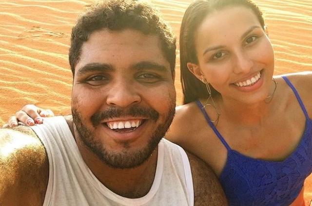 Paulo Vieira e a namorada, Ilana Sales, no Tocantins (Foto: Reprodução)