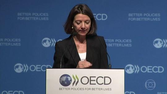 A OCDE reduziu as projeções para a economia global