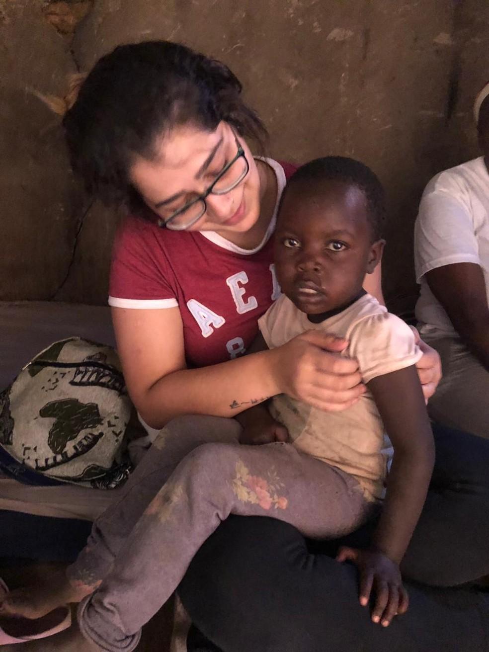 Segundo a estudante, crianças vivem em situação precária e passam fome no Quênia  — Foto: Arquivo pessoal